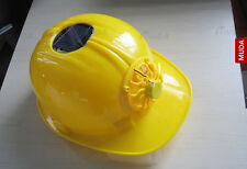 Solar Fan Safety Helmet Hard Ventilate Motorcycle Hat Cap Cooling Cool NEW