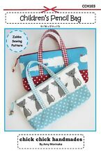 Children's Pencil Bag Pattern by Chick Chick Handmades   FREE US SHIPPING
