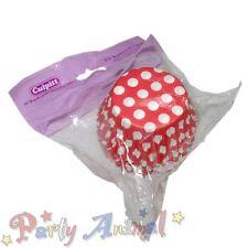 54 x Alta Calidad Rojo Lunares Cupcake Moldes Horno