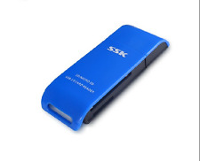 SSK USB3.0 Compact Adapter  Flash Multi Memory Card Reader CF TF MicroSD MS XD