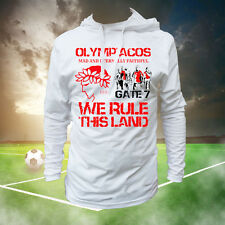 OLYMPIAKOS LONG SLEEVE T-SHIRT HOODIE (SIZES S, M, L, XL, XXL) GREECE, GATE 7