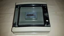 electronic kwh meter 100amp 230 volt din rail mount in IP65 enclosure