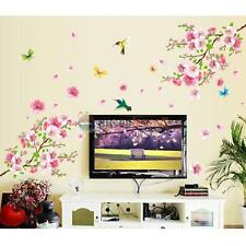 Peach Blossom Flower Butterfly Wall Sticker Vinyl Art Decal Home Decor Mural DIY