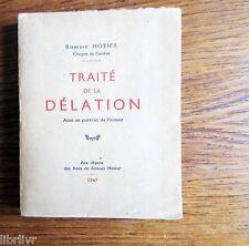 Essai TRAITE DE LA DELATION  par Romain Motier 1947