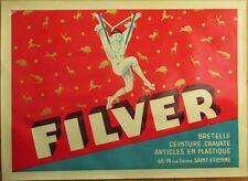 D'Ylen FILVER French Art Deco 1920s Pierrot Clown Suspenders Advertising Poster