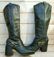 JESSICA SIMPSON Lanasi 9 Tall Boots Buckle  Pirate Equestrian Steampunk Cosplay