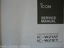ICOM-W21AT-W21ET (GENUINE SERVICE MANUAL ONLY).......RADIO_TRADER_IRELAND.