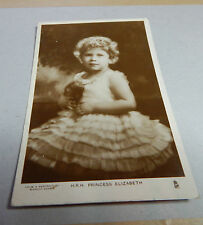 H.R.H Princess Elizabeth as a child real photo posted 1931B2
