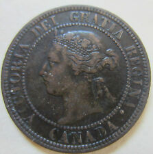 1898 Canada Large Cent Coin. VF BETTER GRADE KEY DATE (C829)