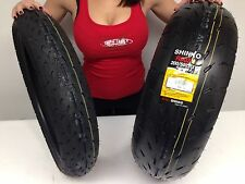 New 120/60 ZR 17 Front 200/50 ZR 17 Rear Shinko 003 Stealth  Motorcycle Tire set