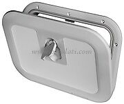 GREY BOAT HATCH Locking Flush Walk On 380 x 280mm Caravan Yacht  HATGY380L