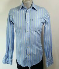 Abercrombie and Fitch mens muscle fit blue striped casual shirt Small