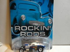 Hot Wheels Auto Affinity Rockin Rods Blue 1/4 Mile Coupe w/Real Riders