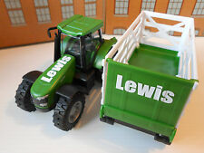 PERSONALISED ANY NAME TOY TRACTOR & TRAILER GIRL BOY BIRTHDAY GIFT BOXED & NEW!!