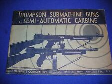 Thompson Gun / SMG Collectors - 1936 / Auto Ordnance Nassau Street Catalog
