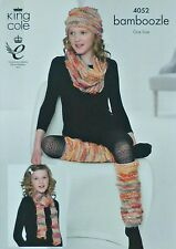 KNITTING PATTERN Childrens Legwarmers Scarf Hat and Cowl Bamboozle Chunky 4052