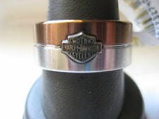 NIB Men's / Women's HARLEY-DAVIDSON 2-Tone Stainless Steel RING Size 7 Jewelry