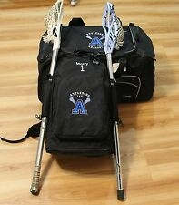 PERSONALIZED DELUXE LACROSSE BACKPACK BAG holds 2 sticks FREE EMBROIDERY