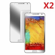 2X Mirror Screen Protector Guard Film Shield For Samsung Galaxy Note 3 III N9000