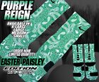 "NIKE LEBRON 11 LOW "" EASTER"" PAISLEY Custom Nike Elite Socks (ALL SZ) EASTER"