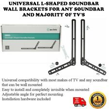 UNIVERSAL L-SHAPED SOUNDBAR WALL BRACKETS FOR ANY SOUNDBAR AND MAJORITY OF TV'S