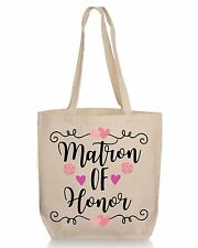 Floral Matron of Honor Wedding Gift Tote- Wedding Favor