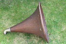"Wooden ""OAK"" Music Master S & V Gramophone Horn Ship Worldwide"
