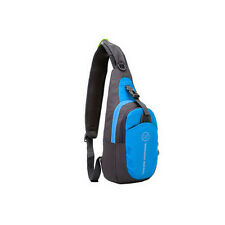 Blue Mens Womens Chest Bag Waterproof Outdoor Hiking, Travel, Running Sling