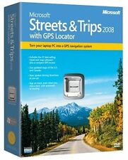 New/Sealed! Microsoft Streets & Trips 2008 with GPS Locator Navigation System