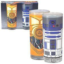 Neu Star Wars R2-D2 & C-3PO 2er Set Gläser Droids Becher Lucasfilm Offiziell