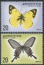 Korea 1976 Butterflies/Insects/Nature/Conservation/Butterfly 2v set (n27356)