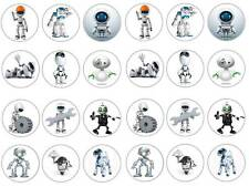 24 Carino ROBOT KIDS PARTY CHIGNON Fairy Decorazioni per Cupcake Compleanni Party commestibili carta