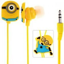 Earphones Minion Anime Cute Cartoon Yellow Style 3.5mm in ear Headphone