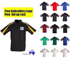 4  Shirts with Custom Embroidered * FREE LOGO UNIFORMS POLO SHIRTS *