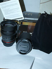 NEW Rokinon 35mm T1.5 Cine Wide Angle Lens for DSLR CAMERAS with CASE CV35