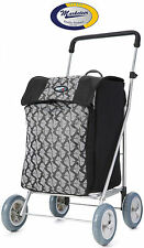 Marketeer Chelsea 4 Wheel Shopping Trolley with Removable Bag & Supermarket Hook