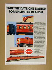 1972 Cox Southern Pacific Daylight Limited HO Model Train photo vintage print Ad