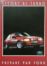 Ford Escort RS Turbo folleto de ventas de mercado francés-septiembre de 1986.
