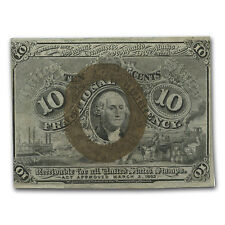 2nd Issue Fractional Currency 10 Cents Cu (Misalignment) - Sku #96334