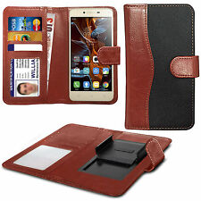 For Acer Liquid Glow E330 - Clip On Fabric / PU Leather Wallet Case Cover