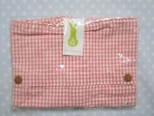 Win Green Large Pink Gingham Cushion (co-ordinates with the Gingerbread range)