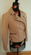 dorothy perkins pink faux leather jacket size uk 6