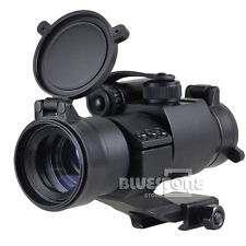 Tactical 1 x 32mm Red/Green Dot Rifle M2 Scope Sight Picatinny Weaver Rail Mount