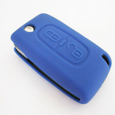 Blue Remote Key Silicone Case Protect Cover For Peugeot 308 307 407 408 207