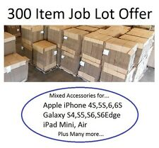 Mixed Job Lot 300 Item Wholesale iPhone 4S 5S 6S iPad Galaxy S3 S4 S5 S6 S6 Edge