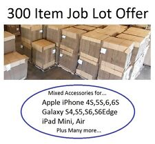 Mixed Job Lot 300 Item Wholesale iPhone 4S 5S 6S iPad Galaxy S3 S4  Accessories