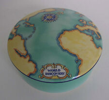 LARGE TIFFANY & CO WORLD DISCOVERY ATLAS MAP TRINKET DRESSER BOX FRANCE TAUCK