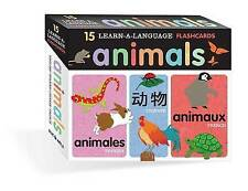 Learn-A-Language Flash Cards: Animals, Huy Voun Lee, Harriet Ziefert, New Book