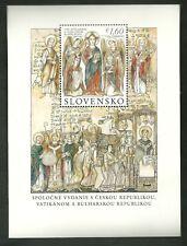 SLOVACCHIA  2013 Congiunta Evangelizzazione S.Cirillo Metodio con VATICANO MNH**