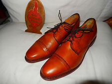 Men's Allen Edmonds Chestnut Clifton Captoe Lace Up Shoes Oxfords 9 E $350